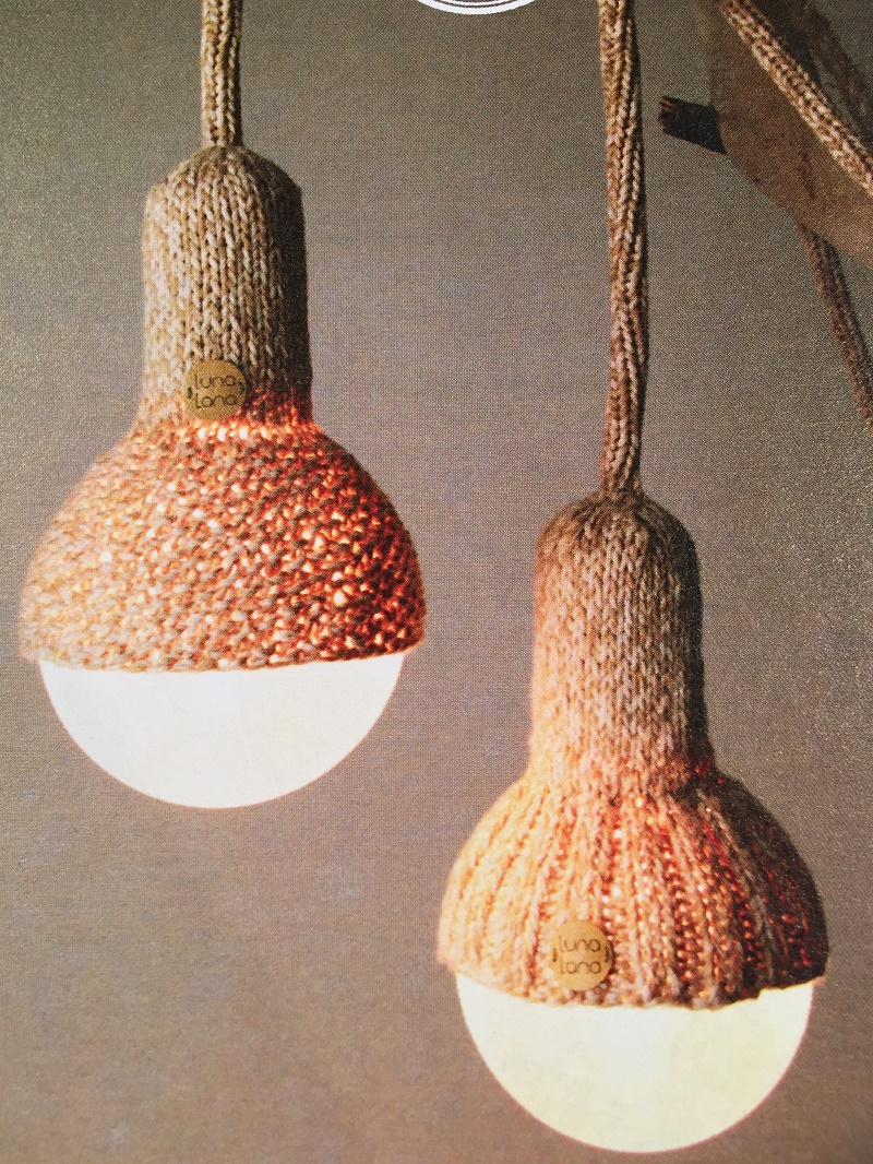 Photo taken by W Bradford. Design and Décor Melbourne 2015 Product: Luna Lana merino wool knitted lights. Australia