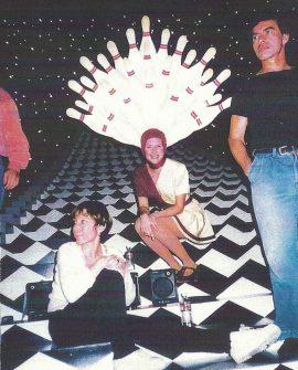 Wendy Braun on the set of The Big Lebowski