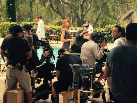 Wendy Braun on the set of Mary + Jane (MTV)