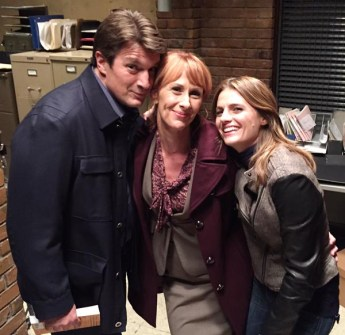 Nathan Fillion, Wendy Braun + Stana Katic in Castle