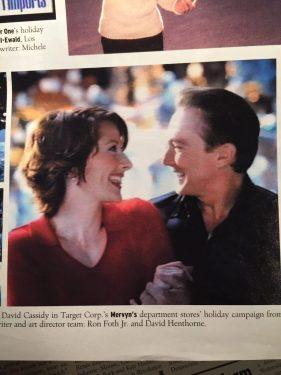 """""""David Cassidy serenades Wendy Braun in Mervyn's campaign"""""""