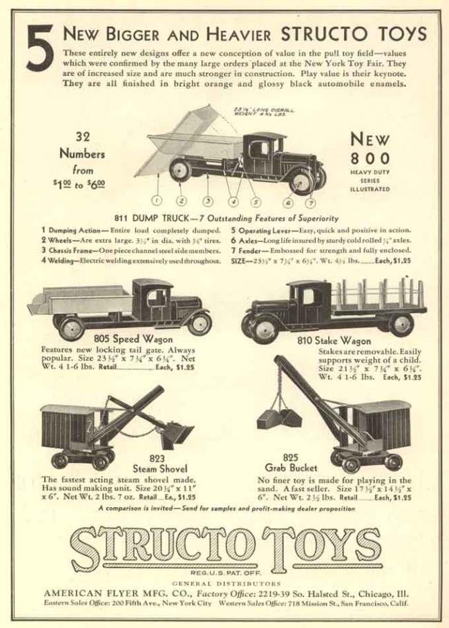 1931 STRUCTO TOYS