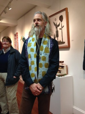 Andy in his Triple Indigo Old Man Scarf