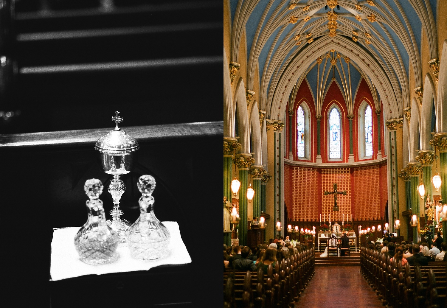 yale wedding details of church and communion