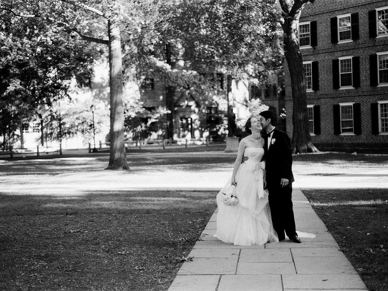 yale wedding couple on campus wendy g