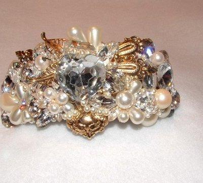 Bridal Wristy Cuff by renowned Fashion Jewelry Designer Wendy Gell