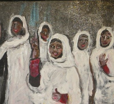 Sudanese Women's Victory Painting by Wendy Gell