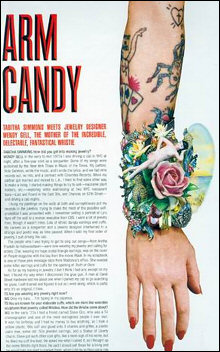 We had a wonderful interview in V, the cutting-edge NY fashion magazine. September 2003