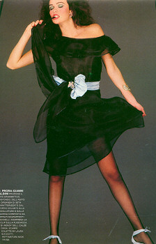 Wendy Gell Butterfly Jeweled Belt worn by model in fashion magazine