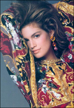 Beautiful Cindy Crawford in Wendy Gell's dangle earrings.