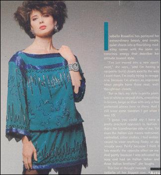 Isabella Rosselini wears Wendy Gell earrings