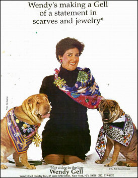 Scarves were a fun addition to the jewelry lines.