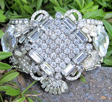 Bridal Cuff Bracelet, Custom Bridal Jewelry Design by Wendy Gell
