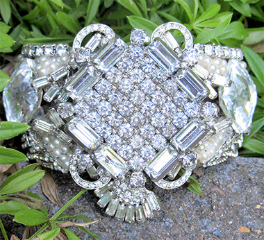 Bridal Cuff Bracelet, Custom Bridal Jewelry Design by Wendy Gell