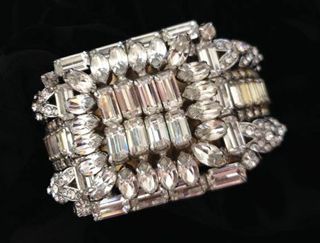 Bridal Cuff Bracelet by renowned Fashion Jewelry Designer Wendy Gell