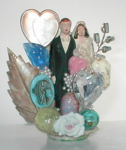 Custom wedding brooch, by renowned Fashion Jewelry Designer Wendy Gell