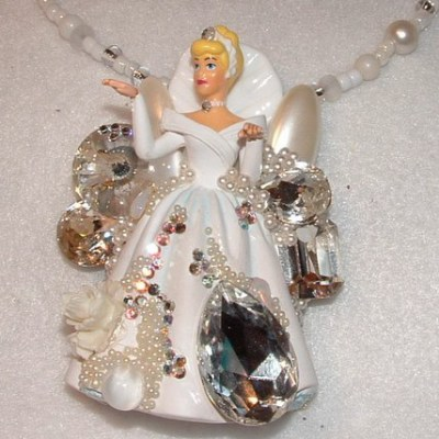 Custom Adorned Pop Art Bride Necklace, by renowned Fashion Jewelry Designer Wendy Gell