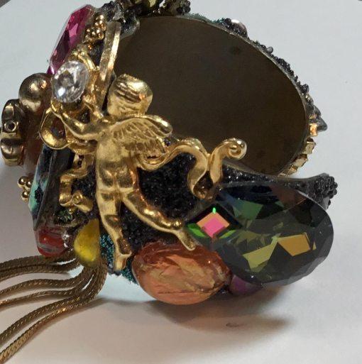 Golden Angel Dangle Wristy by Wendy Gell