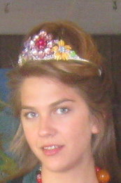 Multicolor Jewel Flower Tiara by renowned Fashion Jewelry Designer Wendy Gell