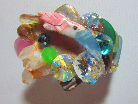 Toucan Bird in Jeweled Nest Wristy