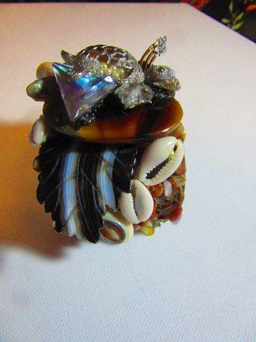 Silver Turtle Jeweled Wristy