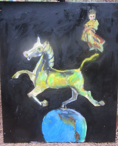 """Magical Horse, 18"""" x 24"""" oil on canvas by Wendy Gell"""