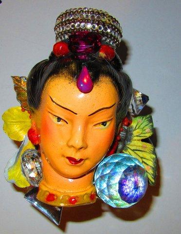 Exotic Lady Head Wristy by jewelry designer Wendy Gell