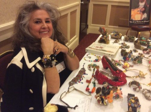 Wendy gell's booth of designer fashion jewelry at the CJCI 2015 Convention, Rhode Island