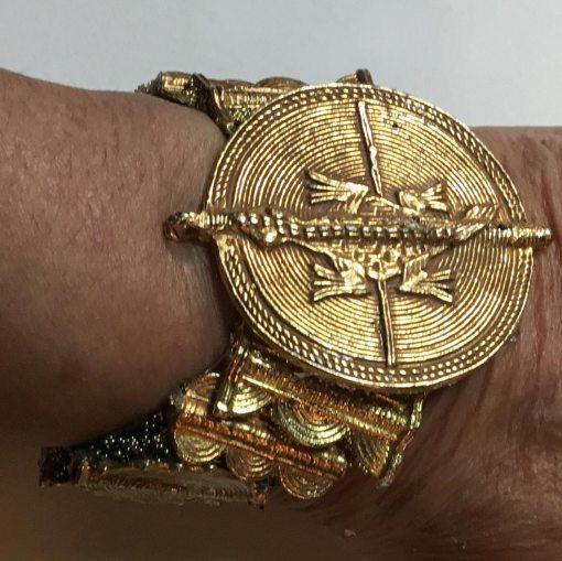 Golden Salamander Angled Wristy by Wendy Gell, vintage 1986