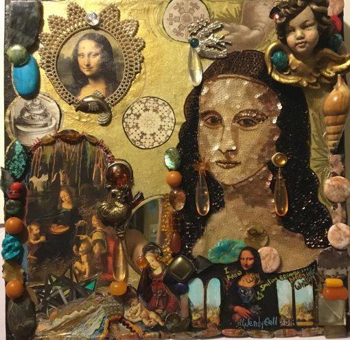 Mona Lisa, mandala from wendy Gel's Mandalas with the Masters series, 2018