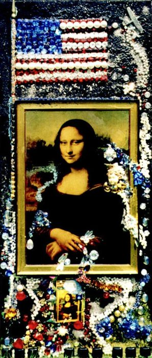 Mona Lisa assemblage, by Wendy Gell