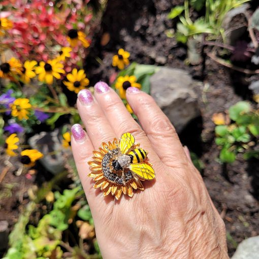 sunflower bee ring