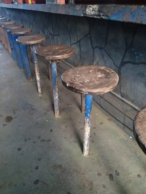 Just loved these barstools at a pulperia on-route
