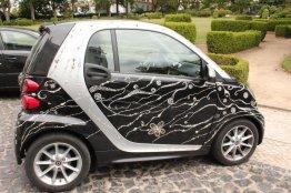 Smart car with Diamante Decals