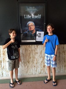 (Flick) Ethan and (Flack) Dylan with with one of their biggest idols.