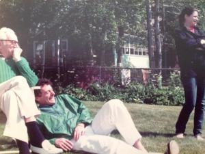 My grandfather, Poppy Saul, my Dad, and me, Highland Lake, Winsted, CT