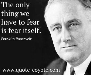 fear Franklin Roosevelt