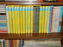 A couple of rogue 1950s blue-spined editions tucked in there.