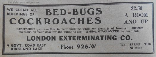 My grandma had to board in town while going to high school. She tells a story of keeping a roll of toilet paper next to the bed to kill the bed-bugs during an infestation. When she moved back home, her mom refused to bring her furniture into the house because she was worried it would still have bed-bugs!