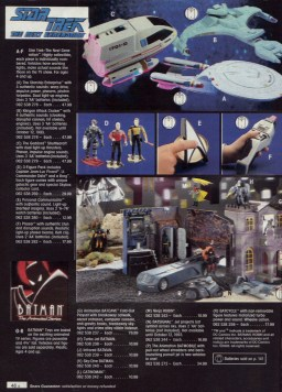 """I know I've got a couple of fellow Star Trek fan followers who will appreciate this page! In 1993 I got (E) the Personal Communicator and (F) the Phasar with """"authentic stun and disruption sounds""""! It also lights up and was one of my favourite gifts EVER. Wish I had all the ships too."""