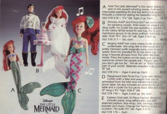 """(A) """"Ariel The Little Mermaid"""" is the one I had."""