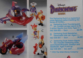 """I had none of these, but I wish I had them all. Pretty sure that Darkwing Duck was 6-year-old Wendy's feeble attempt at filling the void left by the long-since-cancelled """"Count Duckula"""". :("""