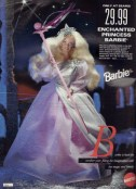 The Enchanted Princess Barbie. From the 1993 catalogue. This was a Barbie I hadn't asked for but got anyway. While I was always a grateful receiver, I remember not being super enthused about this one. Probably because I loved pink and this was purple. ;P