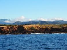 Kauai coastline from the boat