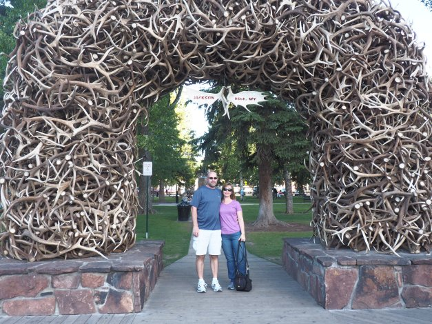 Elk horn arches in Jackson