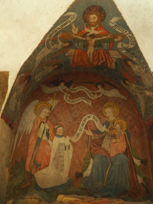 Notre-Dame Cathedral Bayeax crypt mural