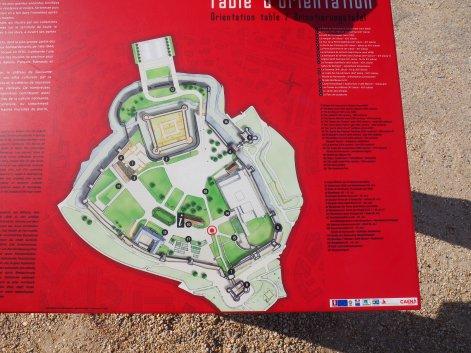 Ducal Château map Caen
