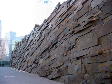 Stone wall in Teardrop Park, NYC