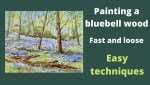 Bluebell wood painting video