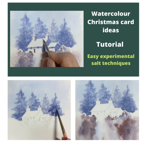 Christmas Card painting video